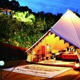 五島列島にあるグランピング&ビーチリゾート施設「NANGORA HILLS(ナンゴラヒルズ)」。